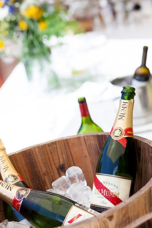 Cubo de champagne para la bienvenida