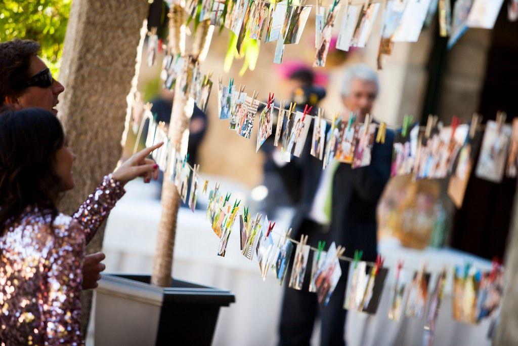 Detalle tendal de fotos para bodas