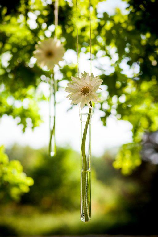 Probeta de flores colgantes Pazo da Touza
